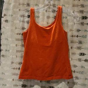 Orange Eddie Bauer shelf bra tank S